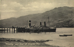 Cruising on Loch Long: steamers at Arrochar Pier