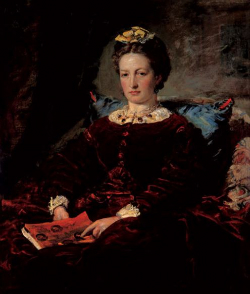 A later portrait of Effie Gray by Millais