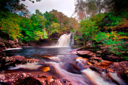 The Falls of Falloch, north of Loch Lomond