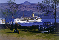An early poster for the 'Maid of the Loch'