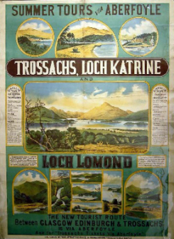 North British Railway, Trossachs poster, 1912