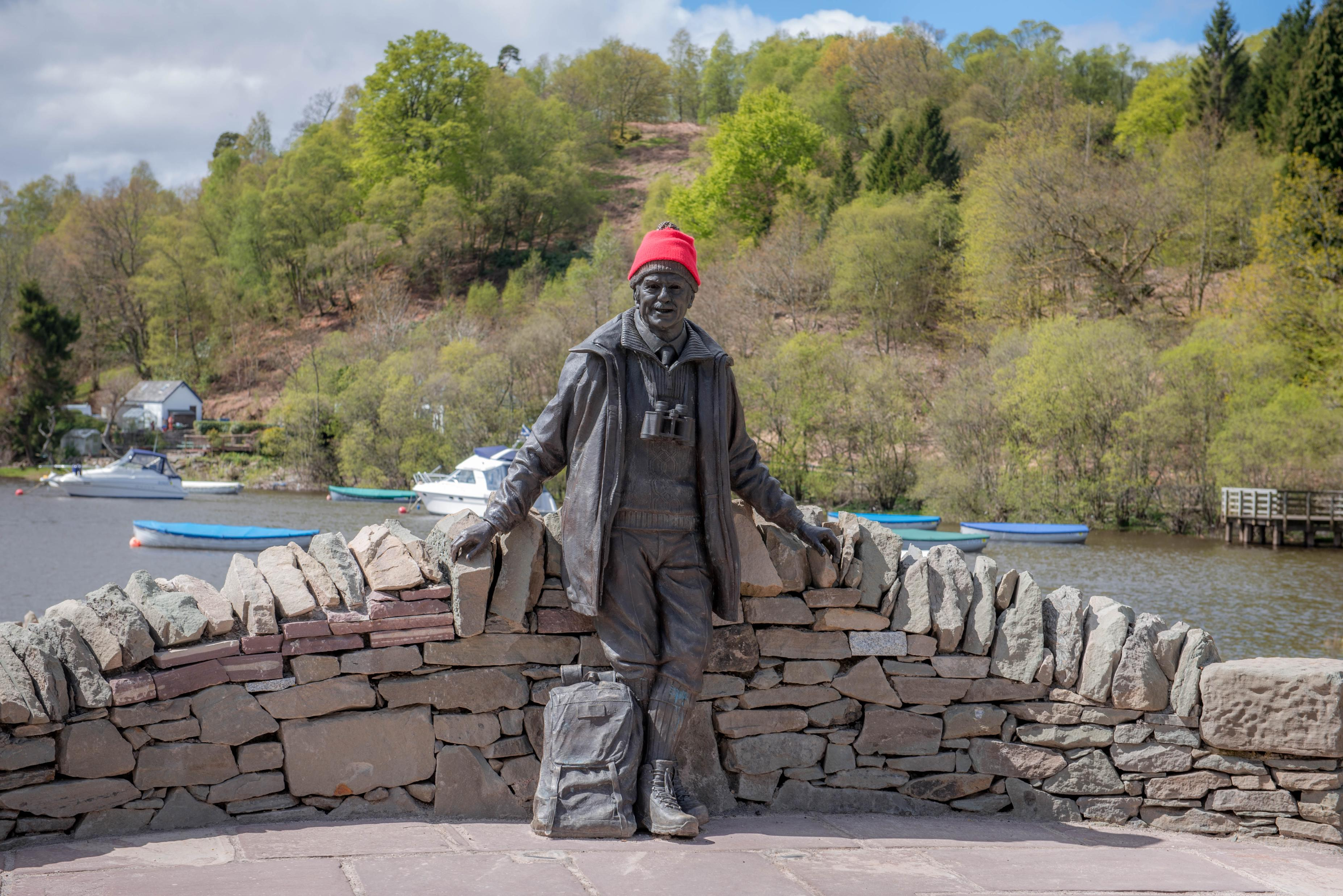 The Tom Weir Statue at Balmaha