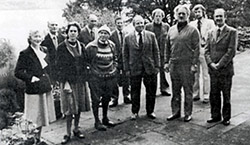 Founding Council Members at their first meeting at Auchendarroch in 1978