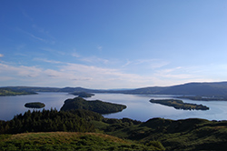 Loch Lomond islands from Conic Hill