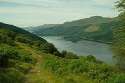 The Three Lochs Way above Loch Long