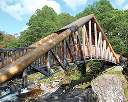 New bridge over the Bracklinn Falls, above Callander