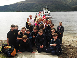 Children  at a nature event at Rowardennan Youth Hostel