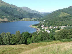 Looking north towards the head of Loch Long and Arrochar