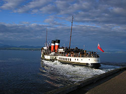 Paddle Steamer Waverley near Dunoon