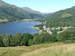 The Three Lochs Way above Arrochar