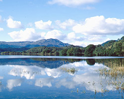 Loch Venachar, the first of The Trossachs lochs, if travelling west from Callander