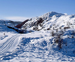 The Duke's Pass, The Trossachs, in severe winter conditions