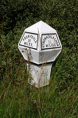Old milepost on the road west of Aberfoyle