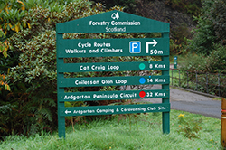 The Forestry Commission offer plenty of trails for walkers and cyclists within the National Park